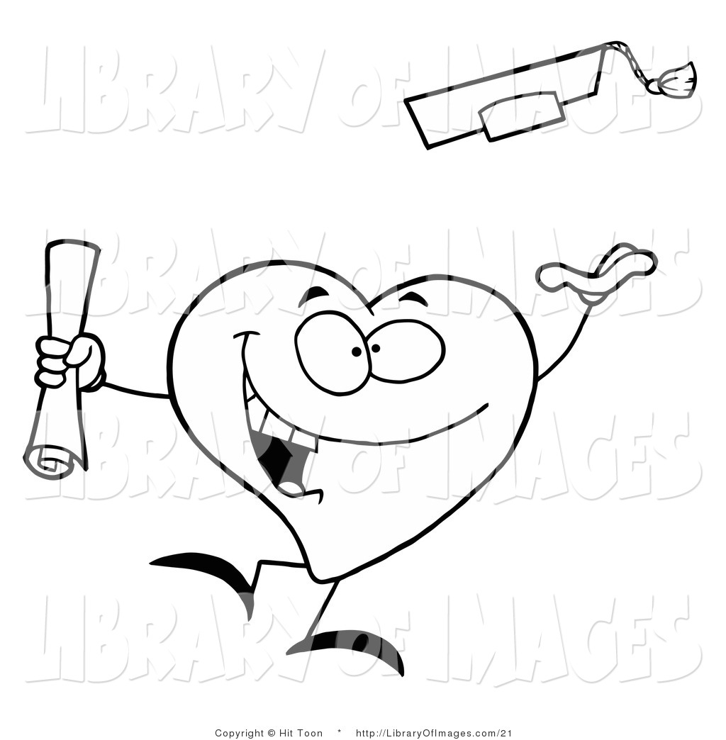 clip art of a black and white coloring page outline of a heart