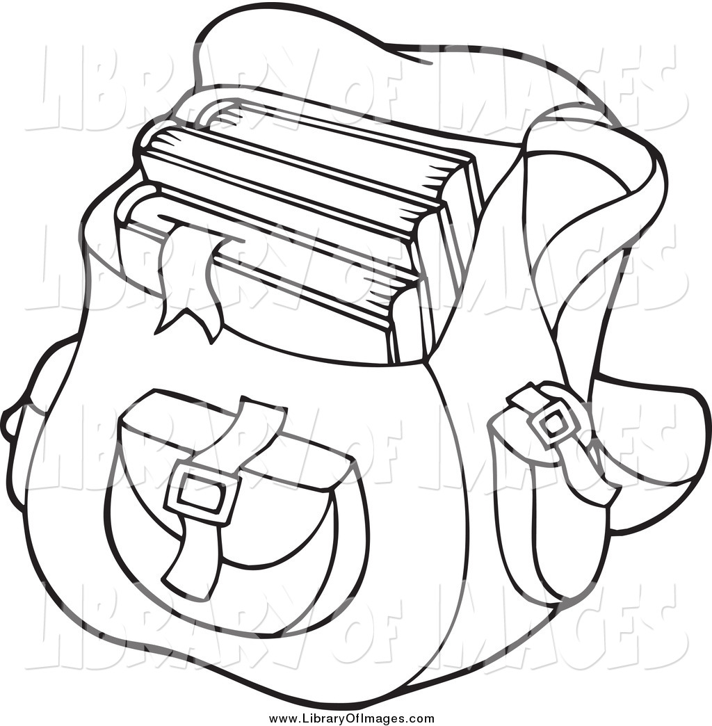 Coloring book pages for Bag coloring page