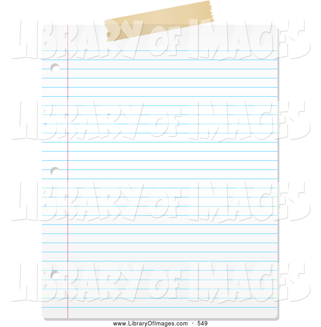 Clip Art of a Blank Lined Piece of Paper on White by KJ Pargeter ...