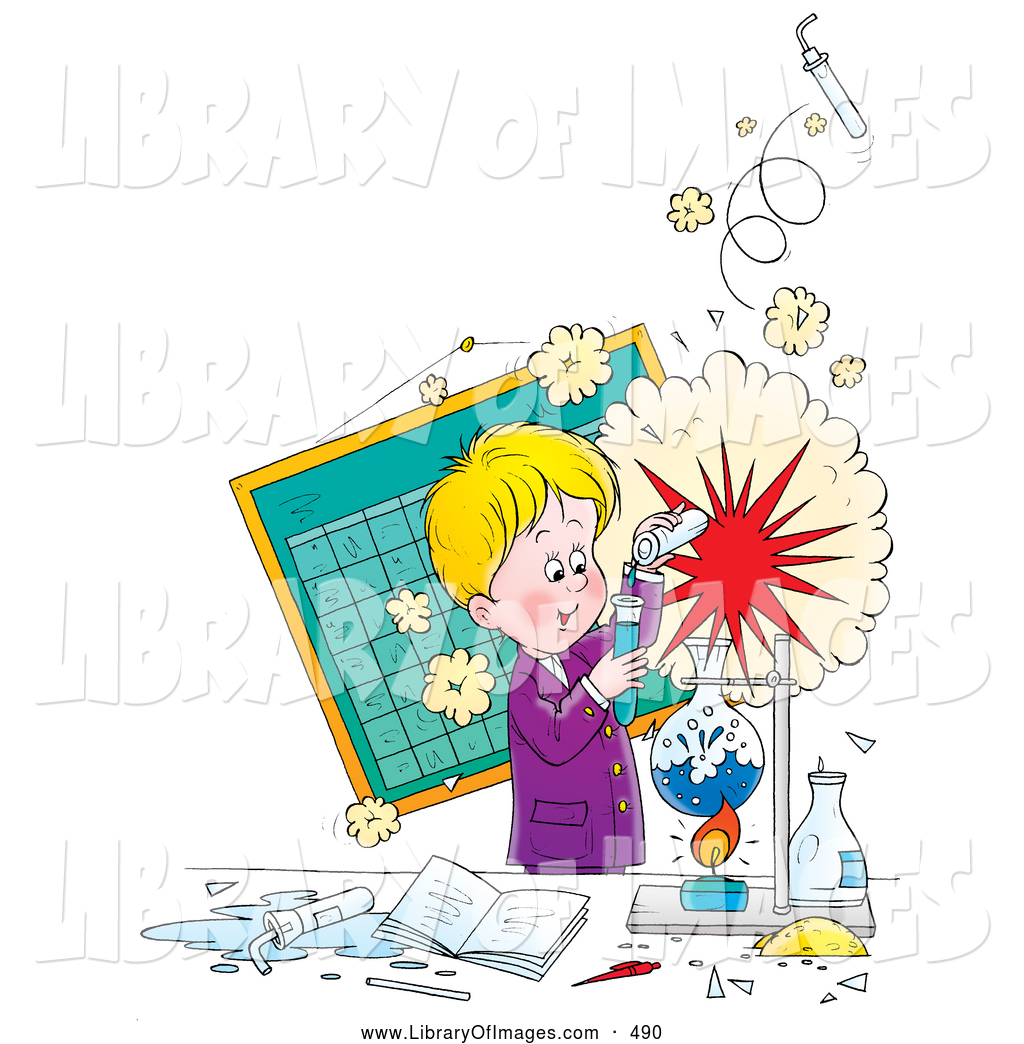 clip art of a cheerful little boy creating an explosion during a rh libraryofimages com Science Clip Art Cartoon Science Clip Art