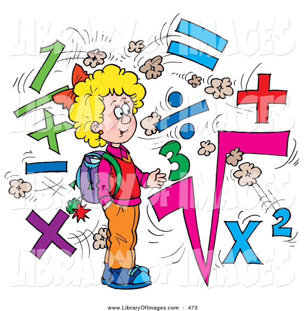 Clip art of a clever school girl surrounded by math symbols by clip art of a clever school girl surrounded by math symbols buycottarizona Image collections