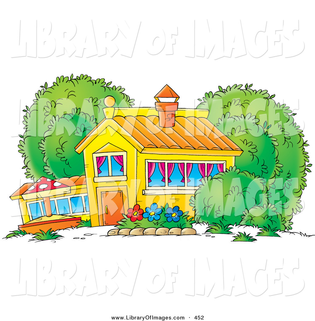 School Window Clipart clip art of a colorful school house, home or building with