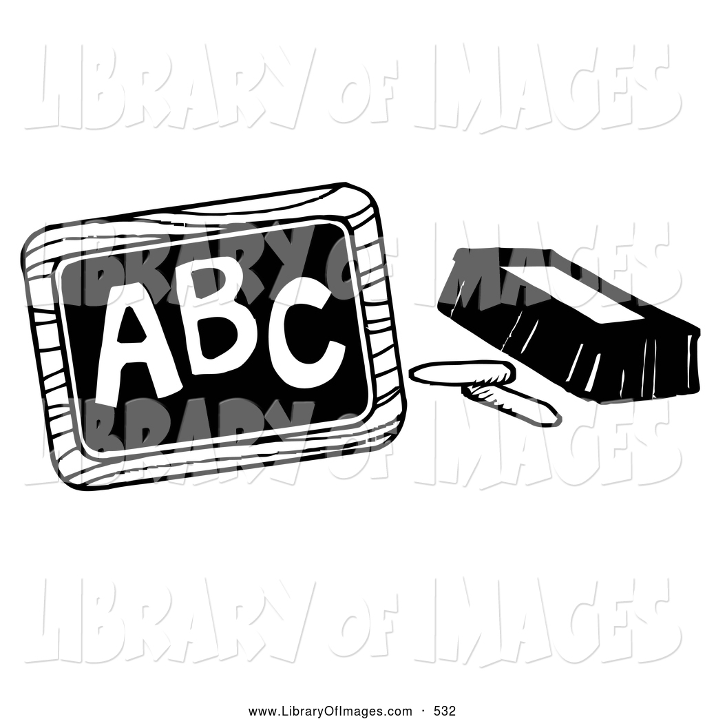 eraser clipart black and white. clip art of a coloring page chalk and an eraser beside chalkboard with abc clipart black white