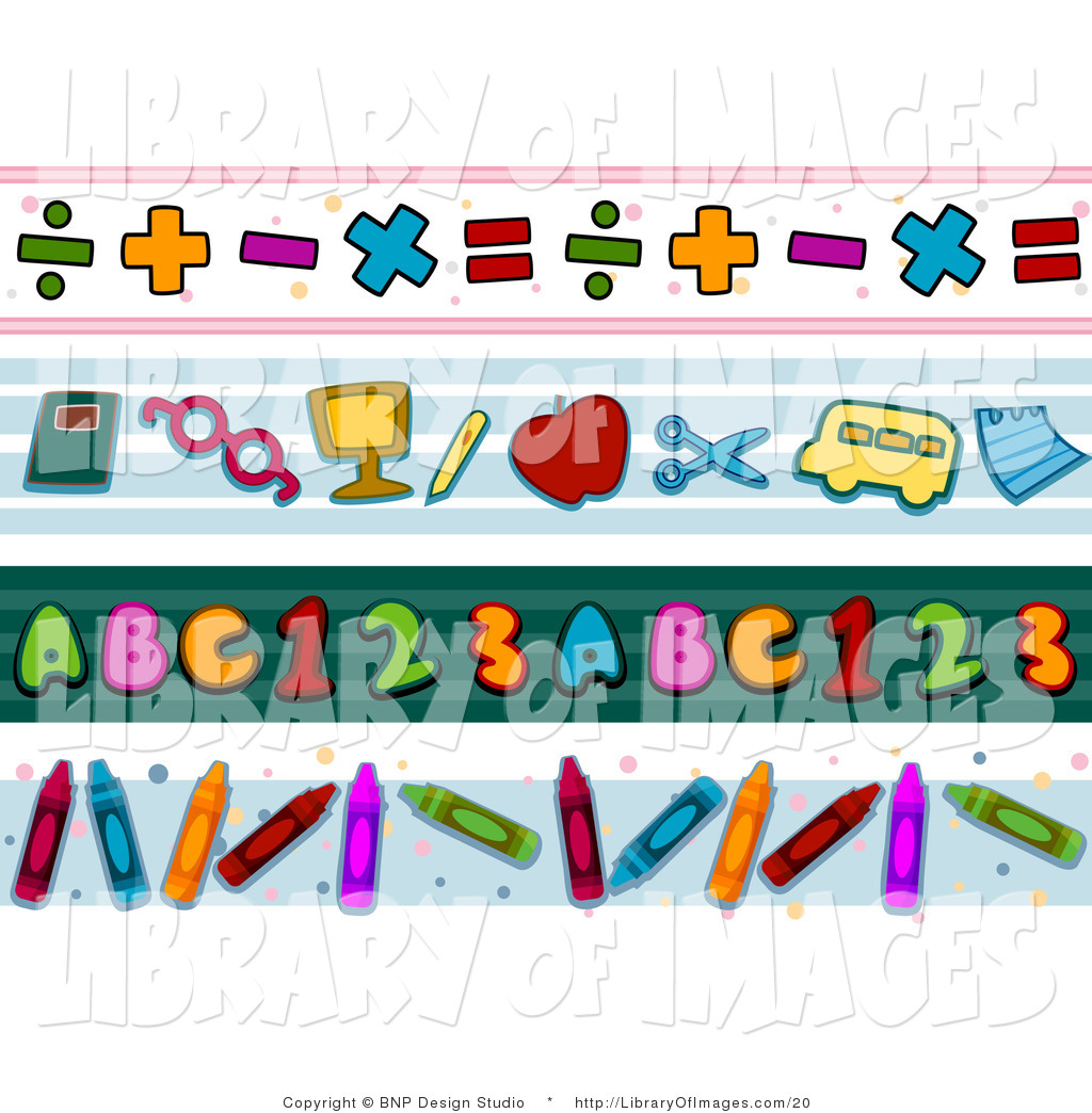 Numbers Border Clip Art