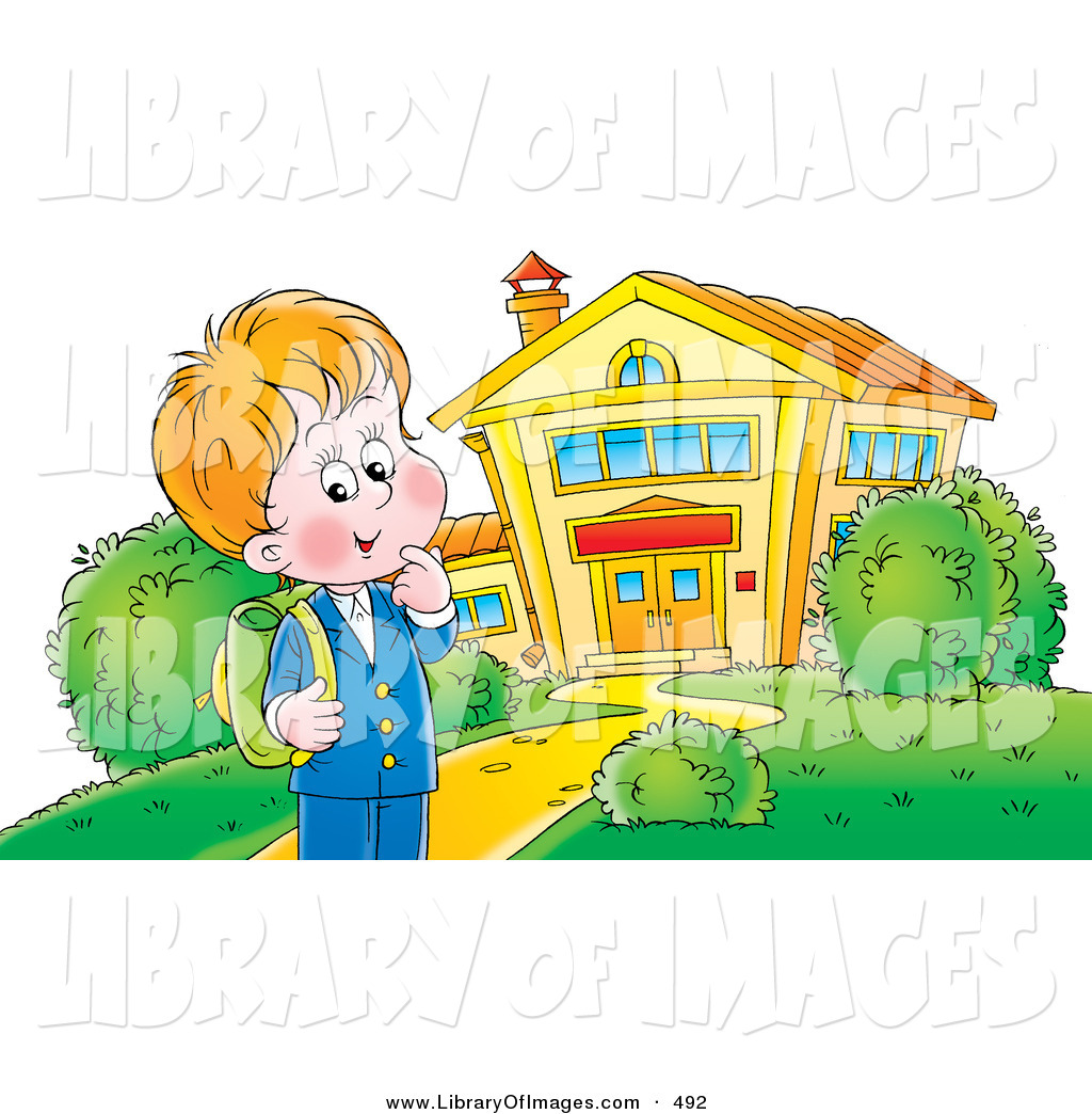 Clip Art Free School Building Clip Art of a Happy School Boy