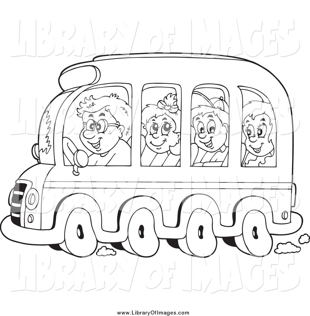 clip art of black and white kids on a school bus by visekart 1322 rh libraryofimages com Home Clip Art Librarian Clip Art