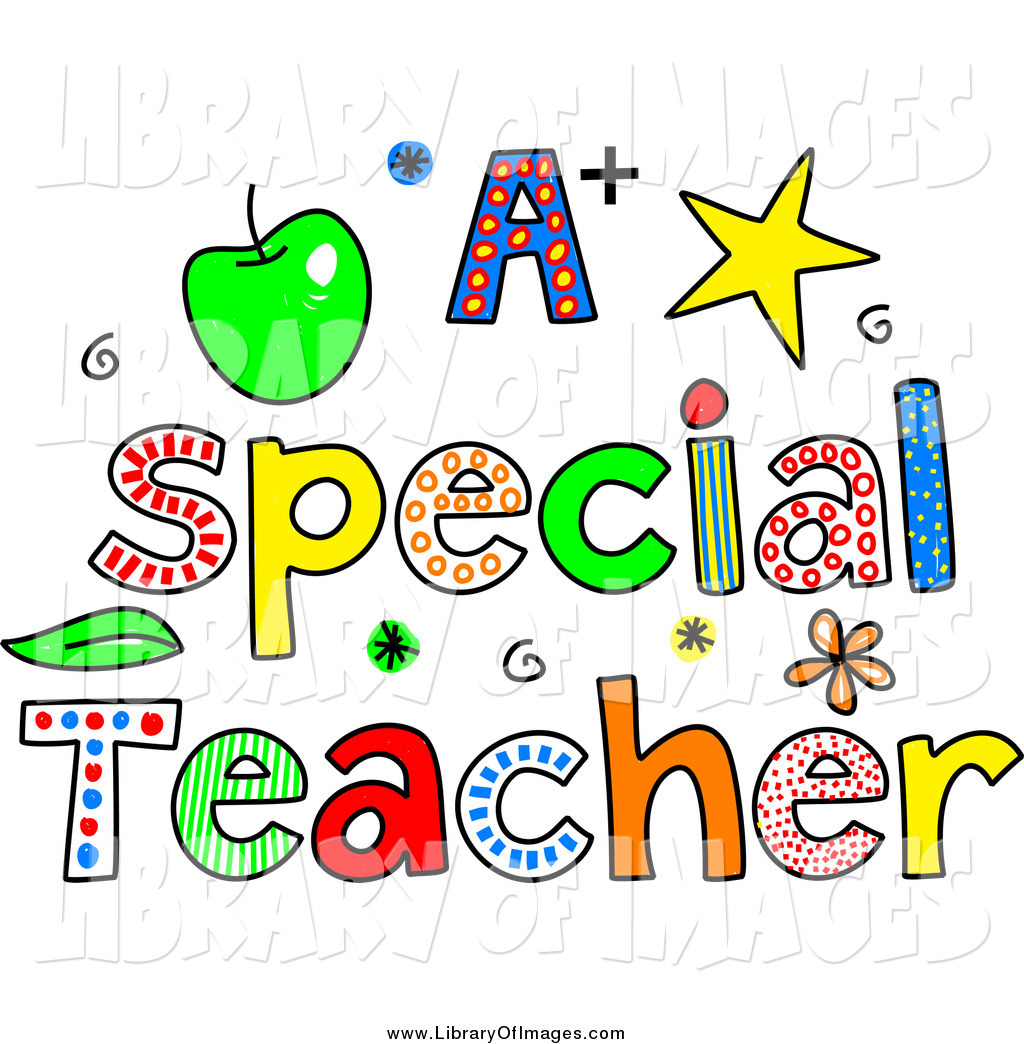 clip art of sketched colorful letters spelling a special teacher by rh libraryofimages com special education clipart free special education clipart free