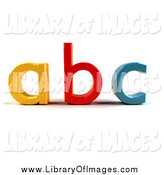 Clip Art of 3d Abc Letters by Julos