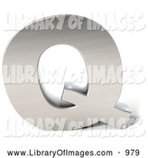 Clip Art of a 3d Chrome Letter Q by Julos