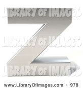 Clip Art of a 3d Chrome Letter Z by Julos
