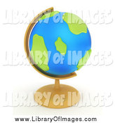 Clip Art of a 3d Desk Globe by BNP Design Studio