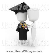 July 22nd, 2014: Clip Art of a 3d White College Graduate Receiving a Medal by BNP Design Studio