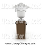 November 5th, 2014: Clip Art of a 3d White Graduate at a Podium by BNP Design Studio