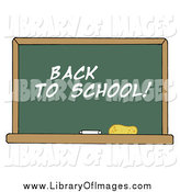 Clip Art of a Back to School Chalkboard by Hit Toon