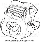 Clip Art of a Black and White School Bag by Visekart