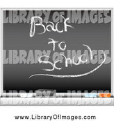 Clip Art of a Black Board with Back to School by Tdoes