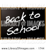 Clip Art of a Blackboard with Back to School Text by Michaeltravers