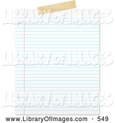 Clip Art of a Blank Lined Piece of Paper on White by KJ Pargeter