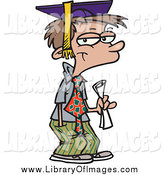 Clip Art of a Cartoon High School Boy Graduate by Ron Leishman