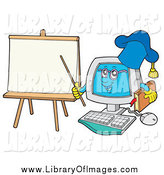 January 16th, 2014: Clip Art of a Computer Professor Character by a Blank Paper by Visekart