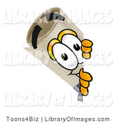 Clip Art of a Curious Diploma Mascot Cartoon Character Peering Around a Corner by Toons4Biz