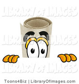 Clip Art of a Curious Diploma Mascot Cartoon Character Peering over a Surface by Toons4Biz
