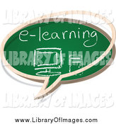Clip Art of a E Learning Chalkboard Speech Balloon by Andrei Marincas