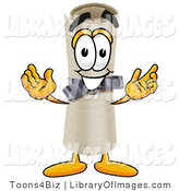 Clip Art of a Friendly Diploma Mascot Cartoon Character with Welcoming Open Arms by Toons4Biz