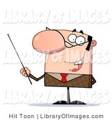 Clip Art of a Friendly Male Teacher by Hit Toon