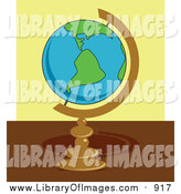 Clip Art of a Globe on a Desk by Prawny