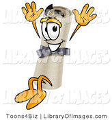 Clip Art of a Happy Diploma Mascot Cartoon Character Jumping by Toons4Biz