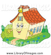 Clip Art of a Happy School House or Church by Visekart