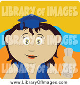 March 8th, 2015: Clip Art of a Mexican Graduate Girl Holding a Diploma by Dennis Holmes Designs