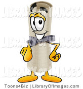 Clip Art of a Proud and Smiling Diploma Mascot Cartoon Character Pointing at the Viewer by Toons4Biz
