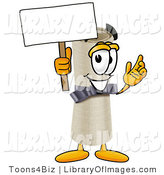 Clip Art of a Proud Diploma Mascot Cartoon Character Holding a Blank Sign by Toons4Biz
