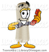 Clip Art of a Proud Diploma Mascot Cartoon Character Holding a Telephone by Toons4Biz