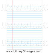 Clip Art of a Ruled Binder Paper by David Barnard