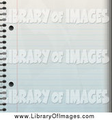Clip Art of a Ruled Notepad Paper Background by Arena Creative
