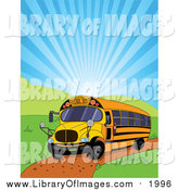 August 12nd, 2016: Clip Art of a School Bus and Shining Sky by Pushkin
