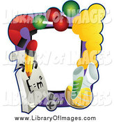Clip Art of a Science Frame by BNP Design Studio