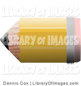 Clip Art of a Short and Stubby No 2 School Pencil with a Pink Eraser by Djart