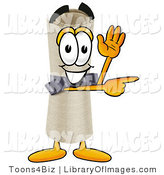 Clip Art of a Smiling Diploma Mascot Cartoon Character Waving and Pointing by Toons4Biz