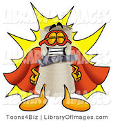 Clip Art of a Smiling Proud Diploma Mascot Cartoon Character Dressed As a Super Hero by Toons4Biz