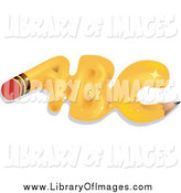 Clip Art of a Sparkly Yellow Pencil ABC by BNP Design Studio