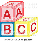 Clip Art of a Stack ABC Blocks by Cherie Reve