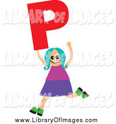 January 2nd, 2014: Clip Art of a Stick Kid Holding Holding P by Prawny