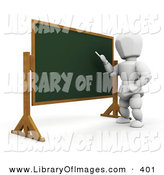Clip Art of a White Man Standing in Front of a Chalkboard and Teaching a Class by KJ Pargeter