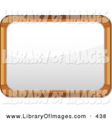 Clip Art of a Wooden Frame White Board with Blank Space in the Middle by Elaineitalia