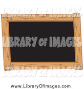 Clip Art of a Wooden Framed Black Board by Visekart