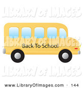 Clip Art of a Yellow School Bus Driving to the Right by Rasmussen Images